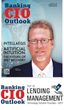 intellaegis John Jewis on the cover of Banking CIO Outlook