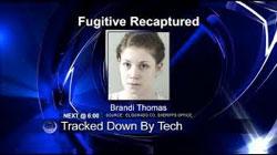 fugitive captured headshot on tv